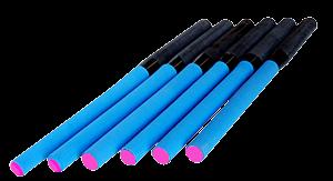 Pink End Carbon Adjustable Rowing Handles